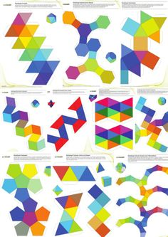 """Colorful! All 10 patterns of our paper craft set """"Easy 10"""""""