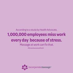 Office stress can be easily reduced with chair massage for the entire team. Employee Morale, Massage Benefits, Good Mental Health, Create Awareness, Employee Appreciation, Caregiver, Stress, Healing, Chair