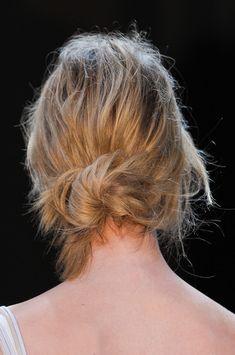 Messy Low Bun Hair StyleTrend for Spring Summer 2013.  Bottega Veneta