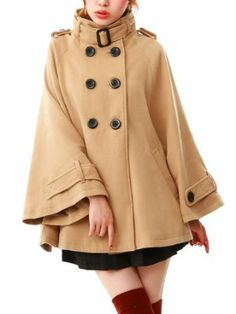 Amazon.co.jp: (メアリーローズ・オードパルファム)MaryRose スタンドカラーポンチョコート: 服&ファッション小物