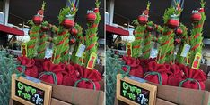 Trader Joe's Is Selling Mini Grinch-Inspired Christmas Trees To Cheer Up The Grump In Your Life Whoville Christmas, Mini Christmas Tree, Christmas Deer, Christmas Wreaths, Christmas Stockings, Christmas Ornaments, Christmas Stocking Holder Stand, Stocking Holders For Mantle, Stocking Hooks