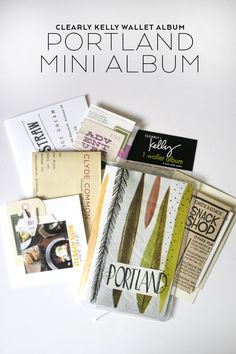 Portland Mini Album Using the New Clearly Kelly Wallet Album