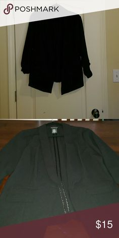 Black blazer Metaphor black blazer 3/4 sleeve Metaphor Jackets & Coats Blazers