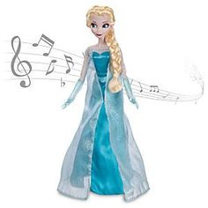Elsa aus Die Eiskönigin - völlig unverfroren - Singende Puppe #disney #puppe