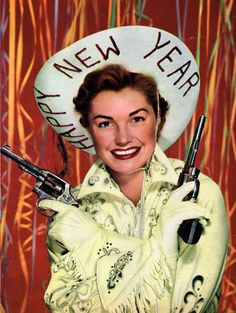 happy western new years wishes from esther williams vintage cowgirls fashion