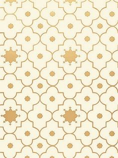 DecoratorsBest - Detail1 - Sch 5006624 - Taj Trellis - Burnished Gilt - Wallpaper - Fabrics - DecoratorsBest