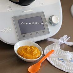 Recette pour bébé au Thermomix TM5 Purée de potiron à l'avoine et abricot- https://www.cubesetpetitspois.fr/recette-bebe-8-mois/puree-de-potiron-avoine-abricot-thermomix/