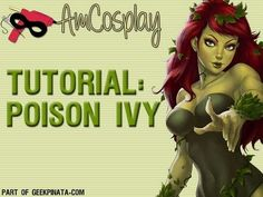 AmCosplay (Cosplay Tutorial) - Poison Ivy: Part could use for further reference later Comic Con Outfits, Comic Con Costumes, Diy Costumes, Cosplay Costumes, Awesome Costumes, Group Costumes, Costume Ideas, Costume Tutorial, Cosplay Tutorial