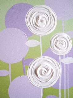 Wall Art Lavender Purple and Green - for the girls