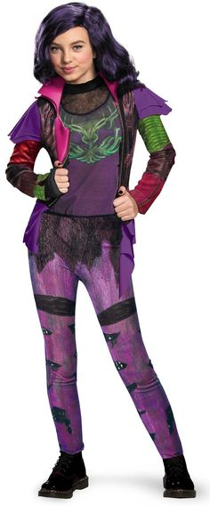 Disney's Descendants: Mal Isle of the Lost Deluxe Costume For Kids from Buycostumes.com