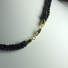 Kumihimo Necklace with Gold Tone Clasp | eBay-Made by Gail Devoid of Need For Beads.