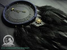 Midnight Universe Dream Catcher is now Available on Etsy! www.etsy.com/shop/theinnercat . . #TheInnerCat #dreamcatchers #dreamcatcher #etsy #handmade #decor #homedecor #walldecor #feathers #artisan #beads #bronze #brown #sun #moon #Luna #star #stars #Stelle #astrology #astronomy #space #universe #dreams #like4like #likeforlike #instagood #followme #bedroom #homedecoration