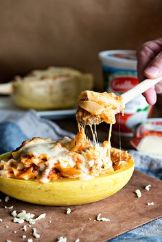 Looking for something creative to make with spaghetti squash? This Lasagna Stuffed Spaghetti Squash recipe is a unique twist on a classic Italian recipe.