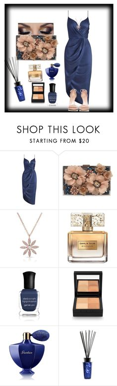 """""""Exquisite dining"""" by ccm-couture ❤ liked on Polyvore featuring Zimmermann, Sondra Roberts, Anne Sisteron, Givenchy, Deborah Lippmann, Guerlain, Baobab Collection and Stuart Weitzman"""