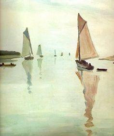 Albert Marquet - La Rochelle , départ des voiliers