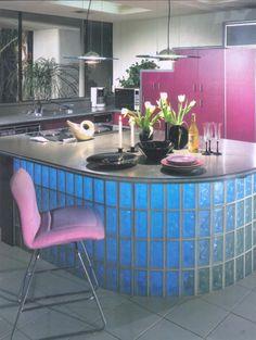Image result for balcão de tijolo de vidro