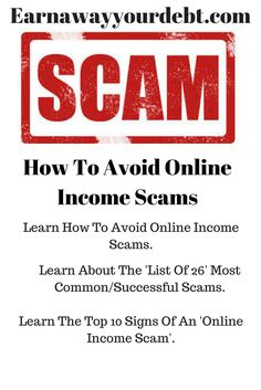 This article helps to identify scams by giving a Top 10 list of the  practices scammers use to steal you time, resources and MONEY! Don't fall  for another ...