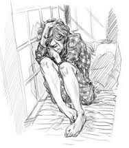 Image result for drawing of a lonley depressed teenager