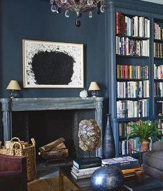 Hauge blue, modern art, library