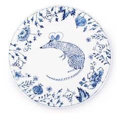 A ceramic plate collection made by Mira Santo for Yasmin Sandytia  EW: My Chinese zodiac is the rat, so a couple of these plates would be perfect for my future apartment!