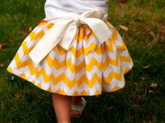 Sewing Pattern: Girls Apron Dirndl Skirt with Multiple Options
