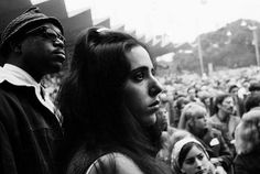It Happened In Monterey: Laura Nyro  A pensive Laura Nyro at the Monterey Pop Festival, June 17, 1967. Her performance later that evening—anomalous, distinctive, but warmly received—was only the second in public for the 19-year-old New York singer/songwriter.