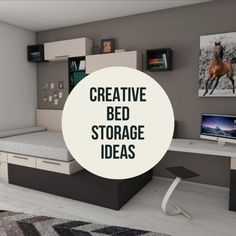 Check out these ideas to help you save and maximize space in a bedroom: bed storage, closet storage, desk storage, and more. #spacesaving #bedroomdecor #savingspace #gettingorganized #tinyhomes #funkthishouse