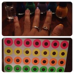 D.Y.I colored tips using hole stickers.