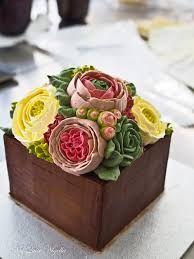 Birthday Cake Wish:  korean buttercream flowers