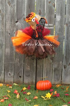 7pc Turkey Thanksgiving Fall Infant Tutu/Costume Set by TutuKawaii, $68.00