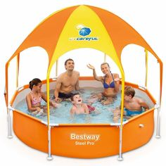Shade Swimming Pool Outdoor Garden Splash-In-Shade Play Pool Family Summer Games