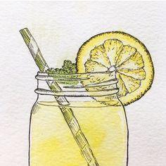 """Fiona Ferguson az Instagramon: """"Lemonade! (I wish I had some. It's 84 degrees out and I'm melting) • • • • • • #lemonade #lemon #lemonart #lemons #lemonadeart…"""" I M Melting, Lemon Art, I Wish I Had, Instagram"""