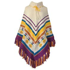 Vintage 1970s poncho with Mexican ladies £45