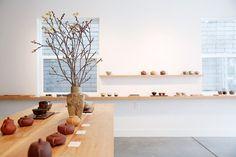 Song Tea and Ceramics // Pacific Heights, San Francisco // via Spotted SF Fukuoka, Tea Display, Pacific Heights, Box Shelves, Cube Design, Store Interiors, Tasting Room, Visual Merchandising, Coffee Shop