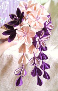 Candy Love Kanzashi de elblack