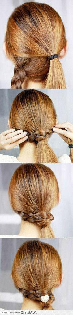 Jak dbać o długie włosy?: Piątkowa Inspiracja Włosowa (16) - ciekawy kucyk krok po kroku