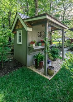 Related posts: 55 Wonderful Pergola Patio Design Ideas 37 On a Budget DIY Projects Pallet Garden Design Ideas 30 Brilliant Small Garden Shed Storage Ideas Top 7 Most Stunning Flower Bed Design Ideas for Your Front Yard Backyard Sheds, Outdoor Sheds, Backyard Landscaping, Garden Sheds, Shed Patio Ideas, Shed Ideas, Small Outdoor Shed, Diy Garden, Landscaping Design