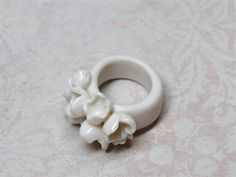 Porcelain ring by ateliernausika on Etsy