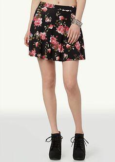image of Printed Skater Skirt