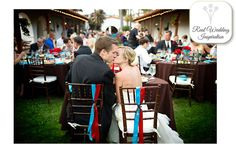 Red and Teal Real Wedding Inspiration: Katie + Nolan - WeddingWire: The Blog