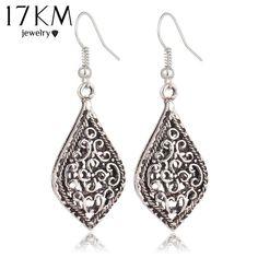 Earrings Comiya Drop Earrings For Women Wood Mosaic Long Pendant Brincos Pendientes Zinc Alloy Fashion Statement Jewelry For Women Flecos Jewelry & Accessories