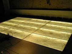 Backlit Floor System with LED Panel Lighting