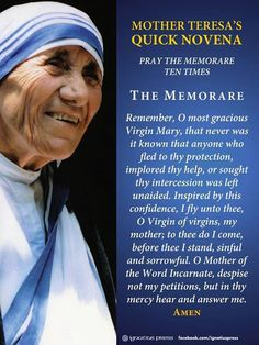 Mother Teresa's quick Novena