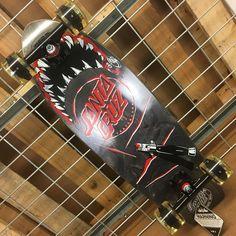 NEW Santa Cruz Night Shark Cruzer Complete Skateboard - 8.8in x 27.7in - Black #SantaCruz