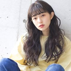 Wavy Hair Perm, Young Japanese Girls, Baby Bangs, Permed Hairstyles, Hair Images, Hair Inspo, New Hair, Hairdresser, Curly Hair Styles