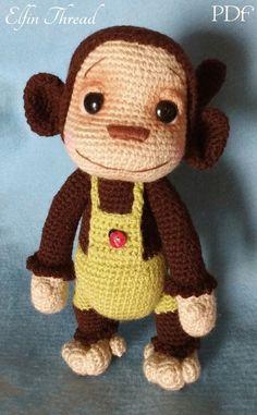Elfin Thread Naimba and Namboro the Baby Monkeys Amigurumi