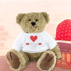 I Just Love It Personalised BE MINE Teddy Bear Personalised BE MINE Teddy Bear - Gift Details. Wine chocolates jewellery ? everything romantic and charming. But your special someone needs something fuzzy to cuddle on the cold nights when you?re  http://www.MightGet.com/january-2017-11/i-just-love-it-personalised-be-mine-teddy-bear.asp