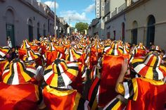 Percussionists and dancers in colorful costumes signaled the beginning of carnival #uruguay