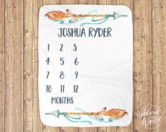 Baby Boy Gifts, Gifts For Boys, Baby Shower Gifts, Baby Milestone Blanket, Milestone Blankets, Tribal Nursery, Baby Growth, Baby Boy Blankets, Baby Milestones