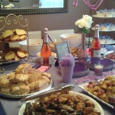 Spread for bridal shower